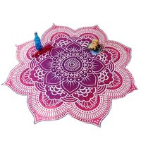 Lotus Mandala Indian Hippie Roundie Yoga Mat Towel Tapestry
