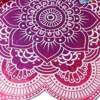 Lotus Mandala Indian Hippie Roundie Yoga Mat Towel Tapestry