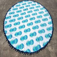 Indian Graffiti Pineapple Hand Printed Hippy Round Roundie