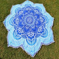 Bohemian Hippie Yoga Mat Round Tapestry Roundie