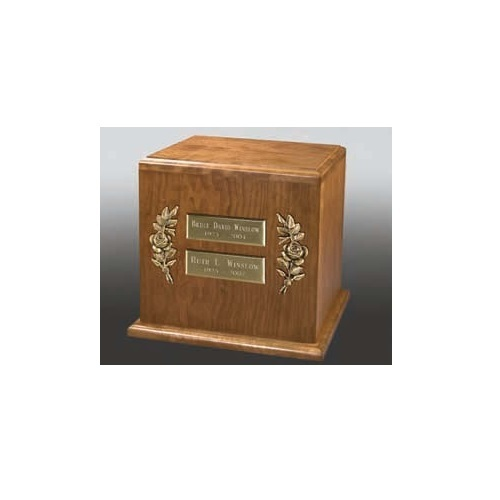 Left & Right Rose Two Nameplate Companion Urn