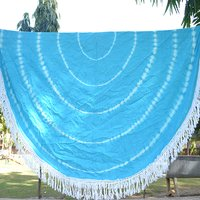 Indian 100 % Cotton Fabric Tie Dye Handmade Roundie