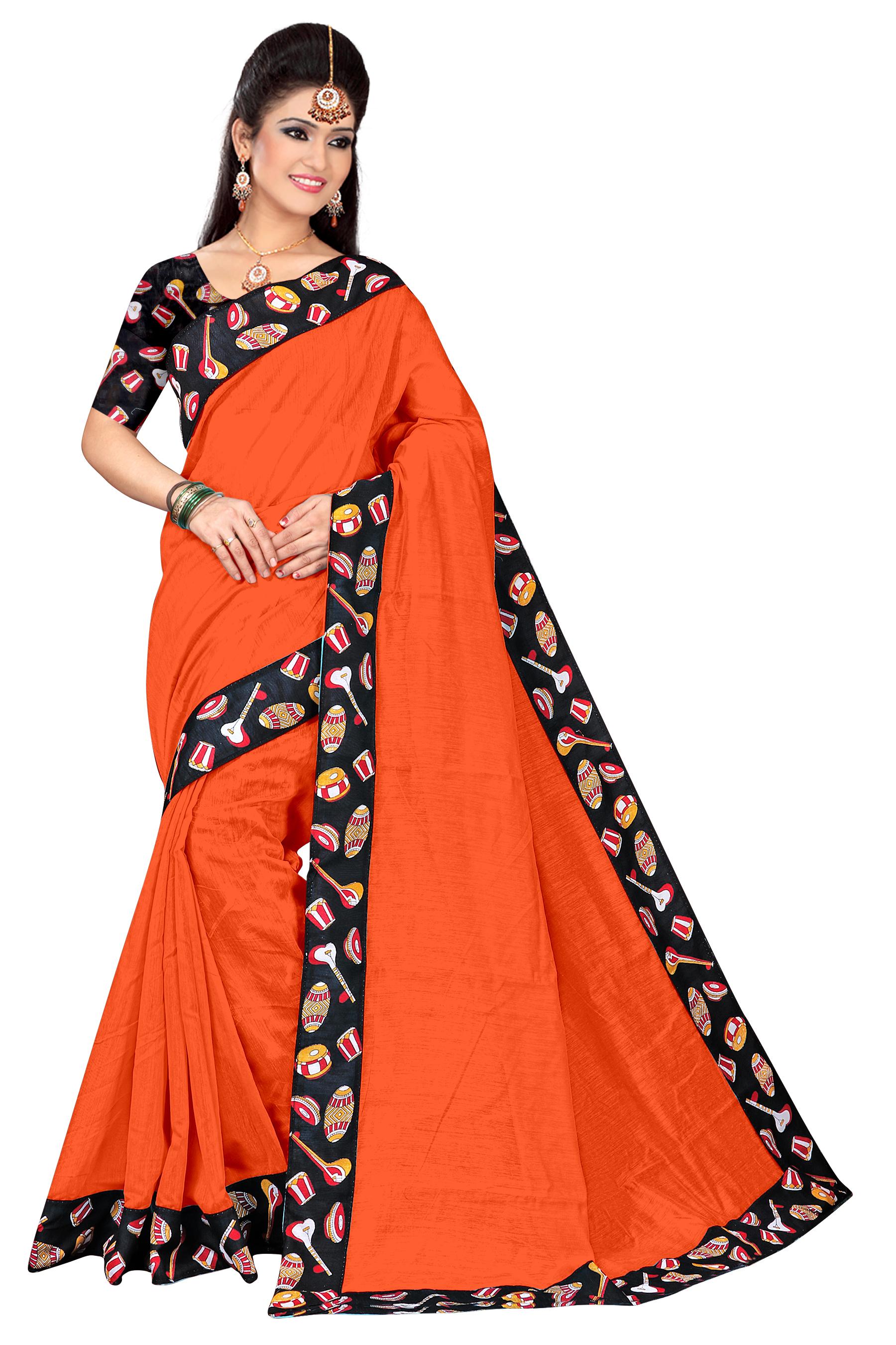Fancy Chanderi Silk Saree