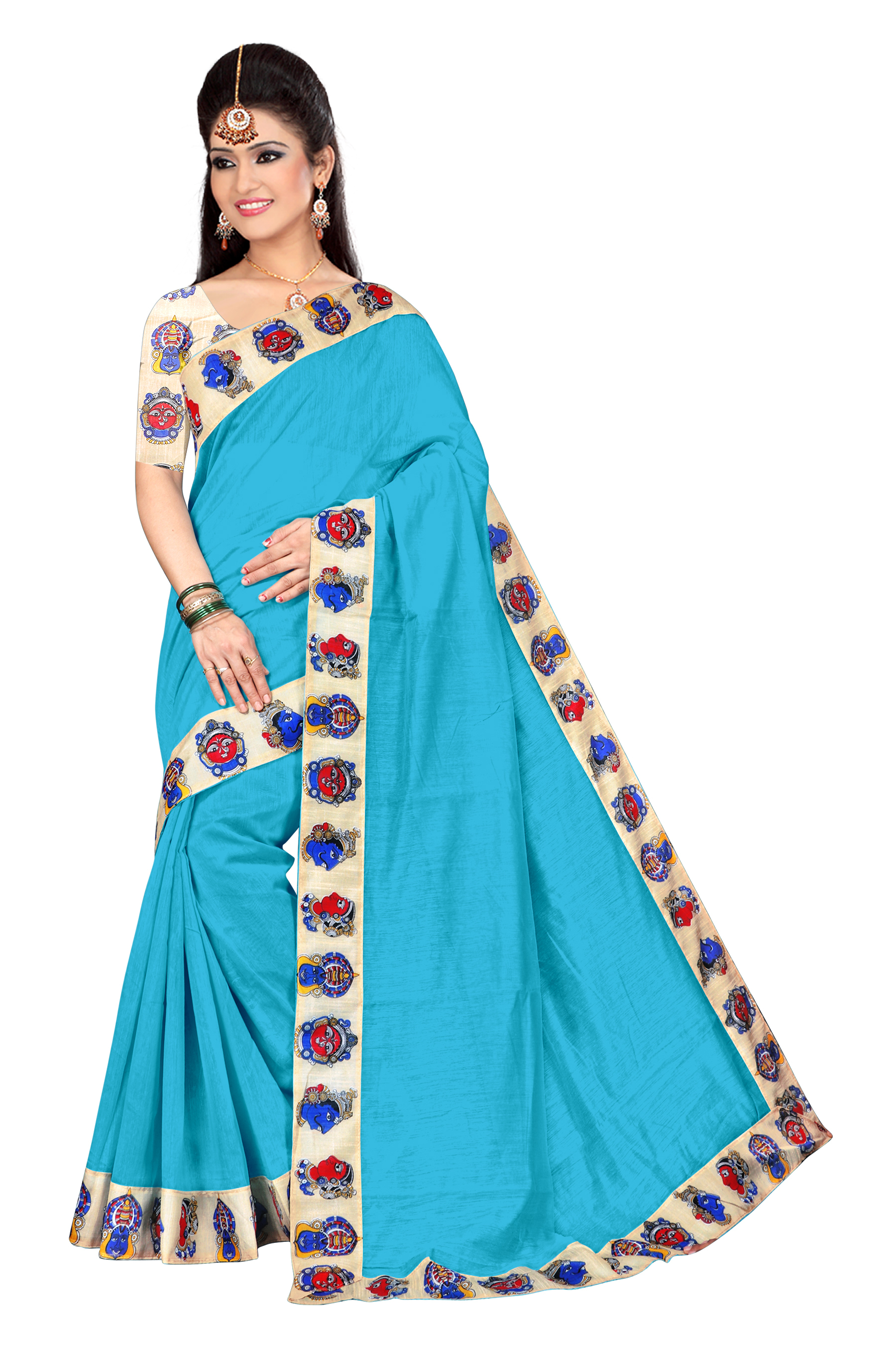 Chanderi Cotton Silk Saree