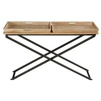 BLACK METAL CONSOLE TABLE
