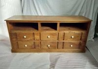 WOODEN ENTERTAINMENT UNIT TABLE