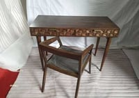 WOODEN SCHOOL TABLE WITH CHAIR