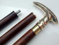 SOLID BRASS SNAKE DESIGNER HANDLE WOOD WALKING CANE STICK MEN'S CANES GIFT