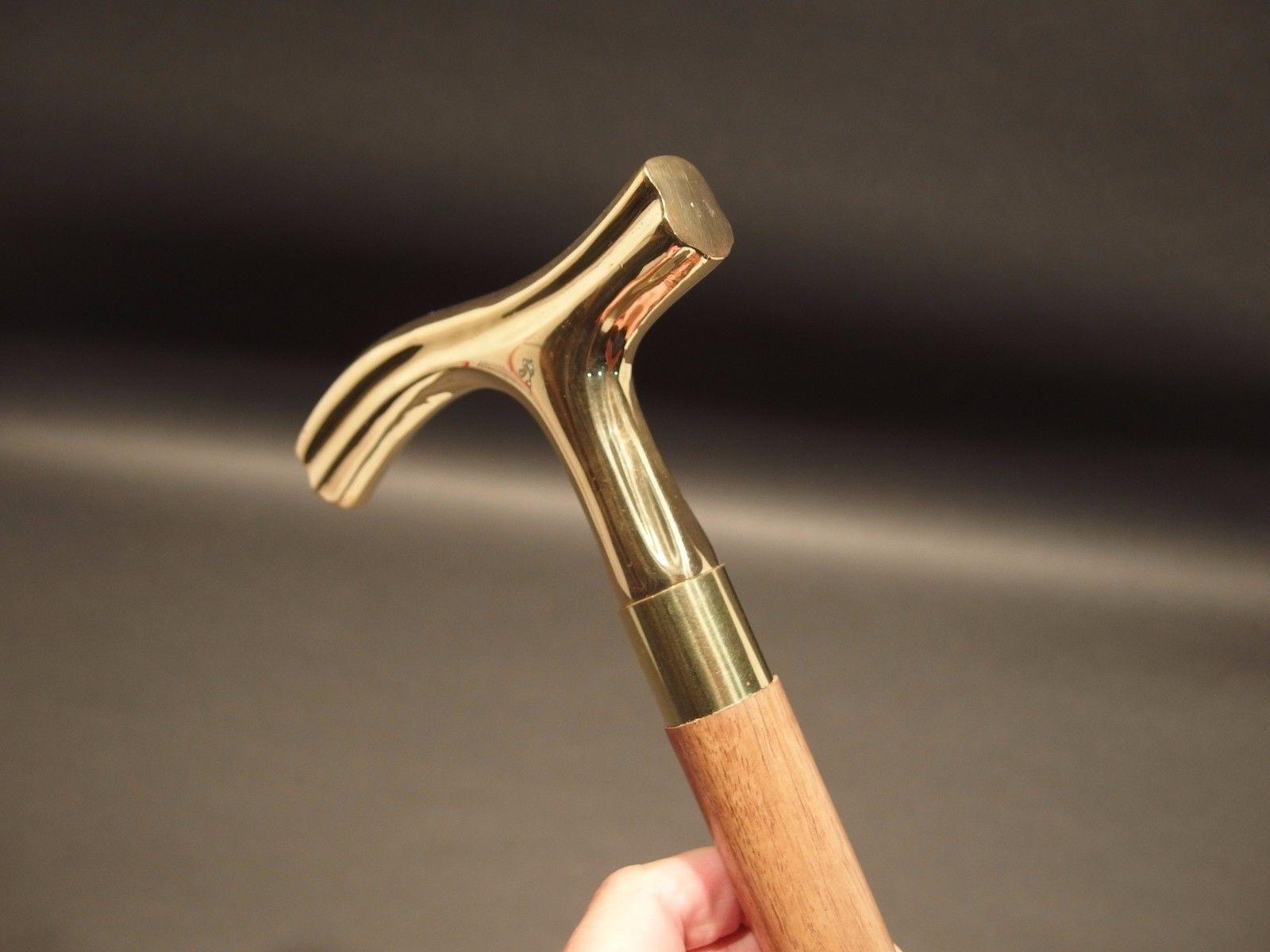 Brass Designer Vintage Style Wood Victorian Wooden Walking Stick Victorian Cane