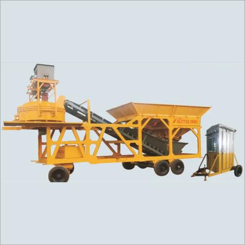 Orange Mini Mobile Concrete Batching Plant