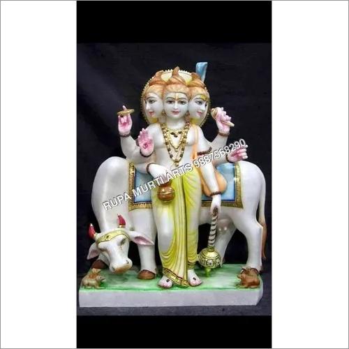 White Marble Dattatreya Statue