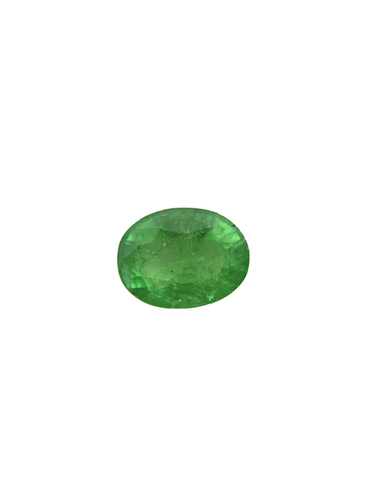 1.3Cts Natural Emerald Colombian 8X6MM Oval Cut Faceted Loose Gemstone