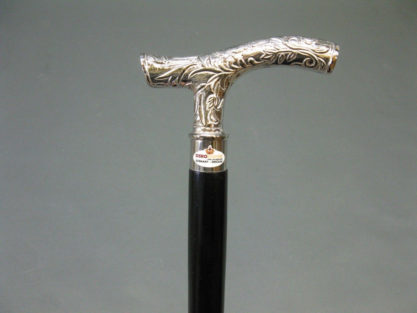 Designer Brass Victorian Silver Handle Style Vintage Wooden Walking Stick Cane
