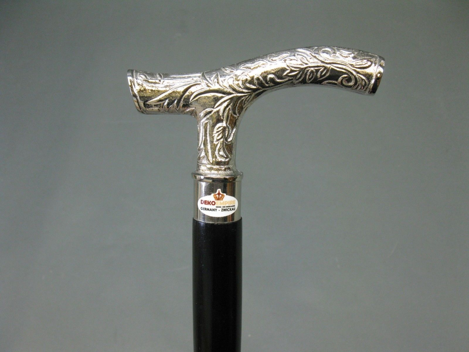 Designer Brass Victorian Silver Handle Style Vintage Wooden Walking Stick Cane