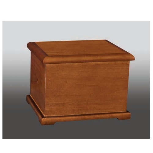 Coronet II Cherry Hardwood Wood Urn