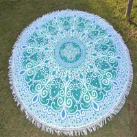 Bohemian Indian Cotton Fabric Hippie Round Tapestry Roundie