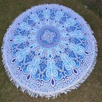 Indian Mandala Charvi Cotton Fabric Hippie Hand Printed Roundie