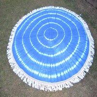Indian 100 % Cotton Fabric Tie Dye Handmade Roundie