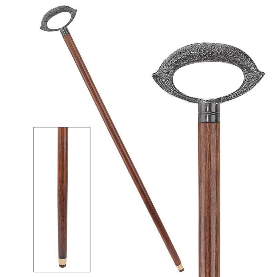 Brass Grip Handle Walking Stick Design Vintage Victorian Walking Stick Cane