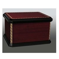 Mission Closed & Open Wood Box Urn