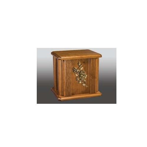Bud Rose Wood Cremation Urn