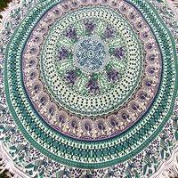 Cotton Fabric Indian Round Mandala Animal Print Towel Roundie