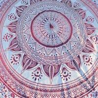 Deepak Mandala Indian 100% Cotton Floral Print Home Textiles Roundie