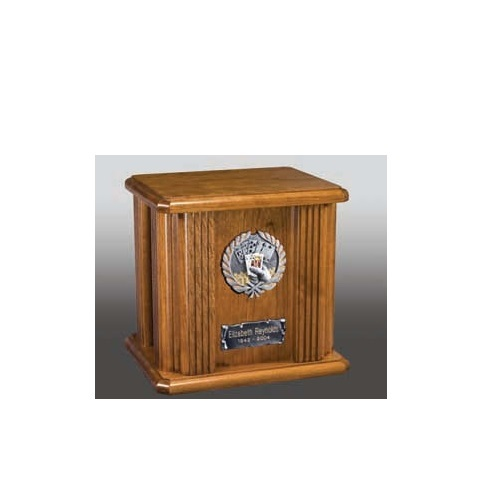 Poker Wood Cremation Urn