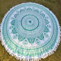 Indian Round 100% Cotton Fabric Round Tapestry Roundie