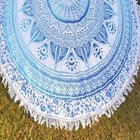 Beach Towels Bohemian Hippie Cotton Fabric Tassels Round Roundie