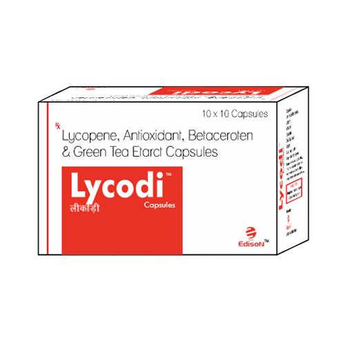 Lycopene Antioxidant Betaceroten and Green Tea Extract Capsules