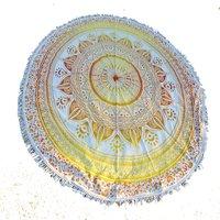 Beach Towel Bohemian Cotton Fabric Yoga Mat Round Tapestry Roundie