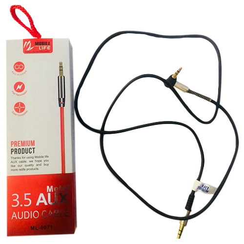 3.5 Metal AUX Audio Cable