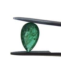 4.14Cts Natural Zambian Emerald 12X7.5mm Pear Cut matching pair loose gemstone