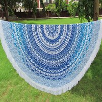 Ombre Mandala Cotton Fabric Indian Bohemian Boho Hippie Roundie