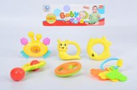 Rattle 6 pcs pvc  pack