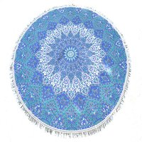 Bohemian Star Mandala Print Indian 100% Cotton Throw Roundie
