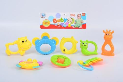 Rattle Set 8 pcs pvc .
