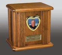 Freedom Firefighter Natural Wood Cremation Urn