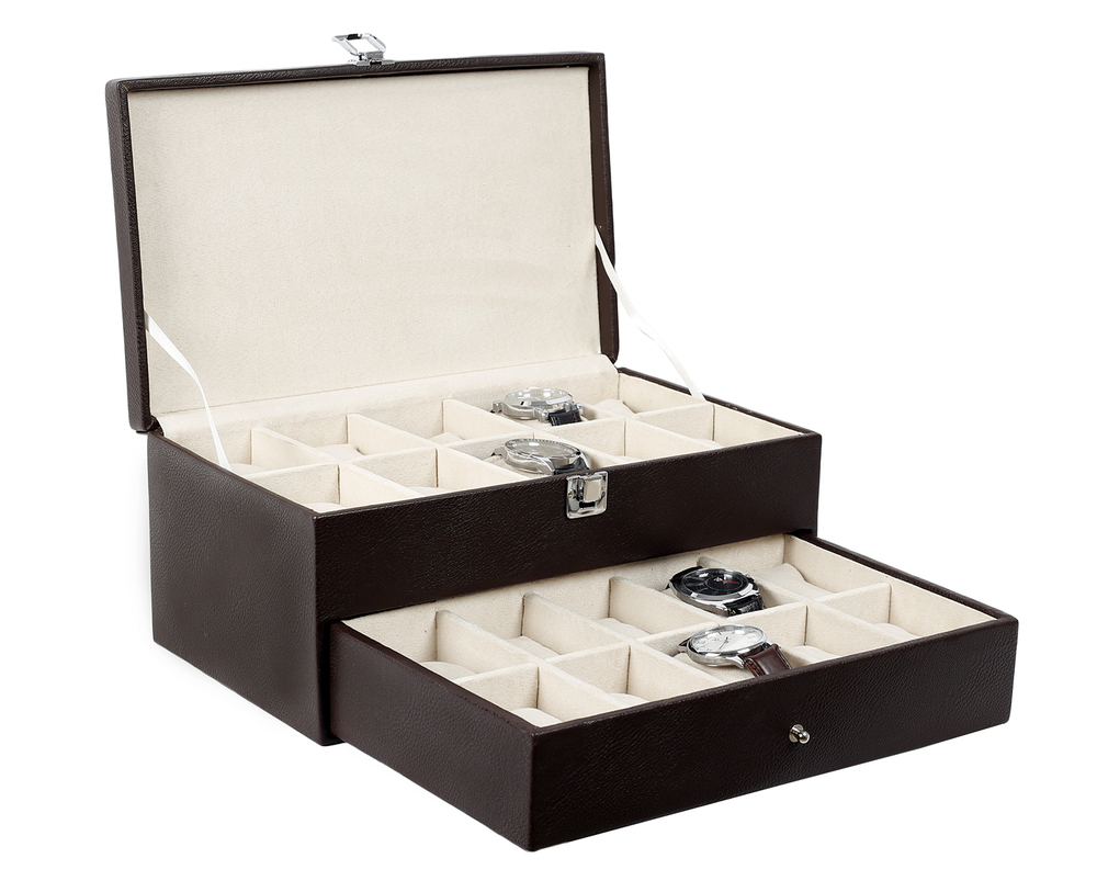 Hard Craft Brown Watch Box for 20 Watches