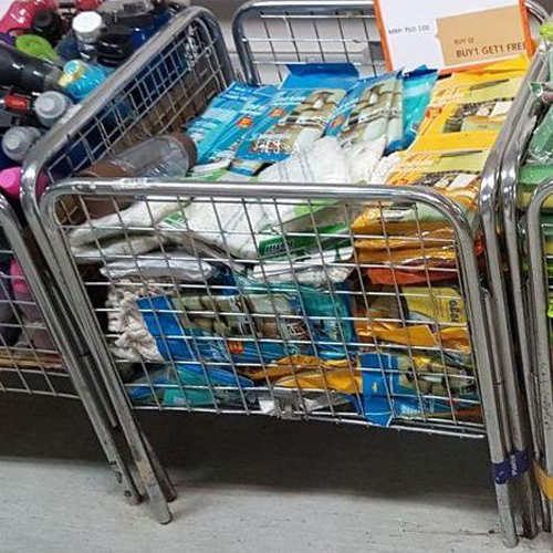 Supermarket Baskets And Bin