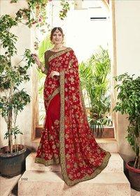 Blooming Georgette Designer Saree