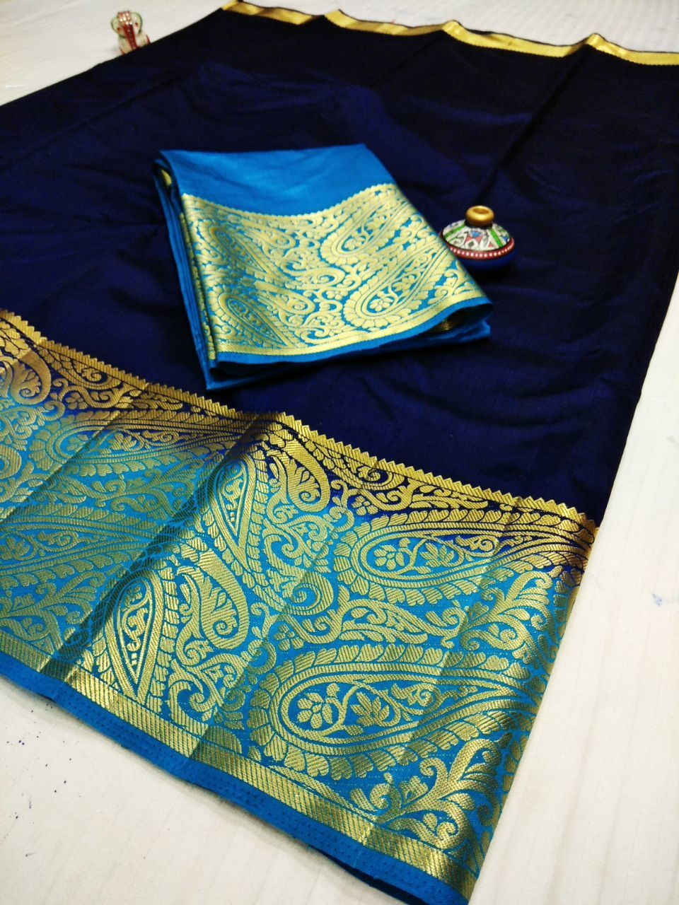 Traditional Kanjivaram Style Art Silk Saree