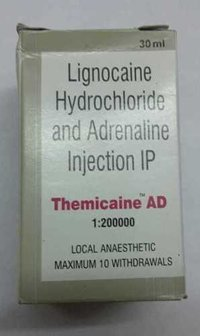 Lignocaine hydrochlorideadrenaline injection