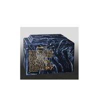 Psalm Blue Aluminum Cremation Urn