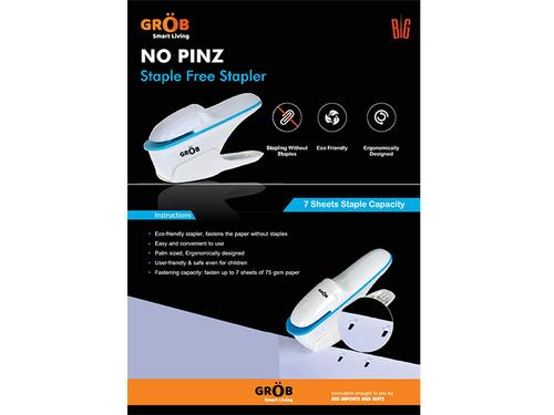 No Pinz Staple Free Stapler