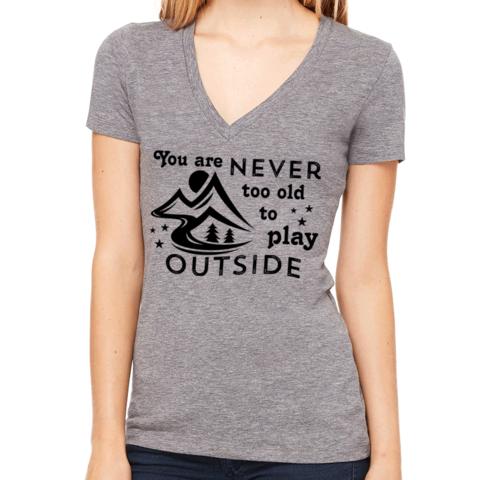 V Neck T-shirts For Women