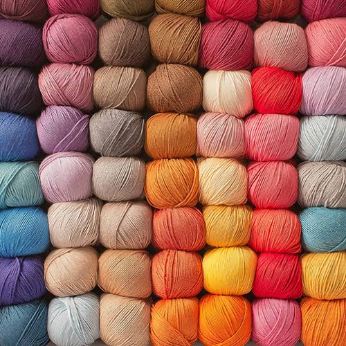 Multicolour Cotton Blended Yarn