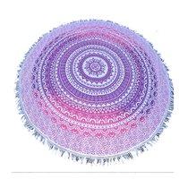 Bohemian Dual Color Hippie Indian Ombre Mandala Handmade Roundie