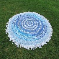 Ombre Mandala Cotton Fabric Indian Bohemian Boho Hippie Roundie